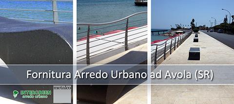 Fornitura di Arredo Urbano ad Avola (SR)