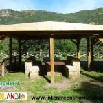 Gazebo in legno di produzione Legnolandia