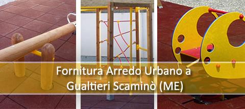 Fornitura di giochi per esterno e materiale antinf. per Comune di Gualtieri Sicaminò (ME)